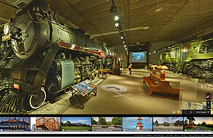 Virtual visit of the Canada Science and Technology Museum building with Google Stree View